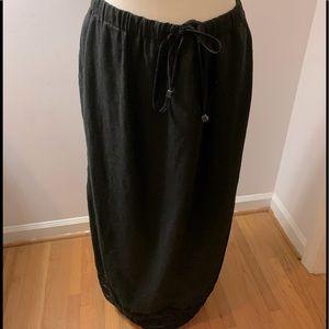 J Jill black linen maxi skirt, size L